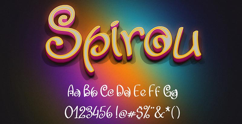 Spirou Font 英文螺旋字型下載