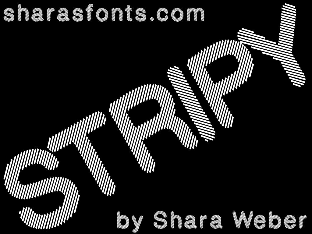 Stripy Font 斜條紋字型下載