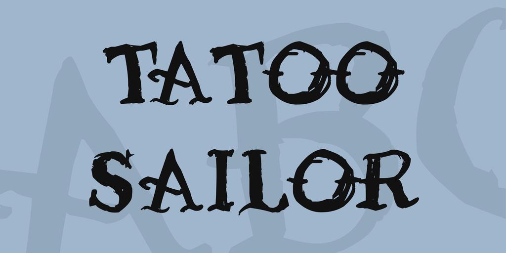 Tatoo Sailor Font 手繪刺青字型下載