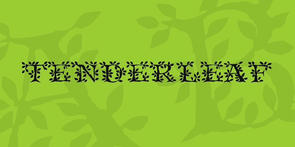 Tenderleaf Font 樹葉字型下載