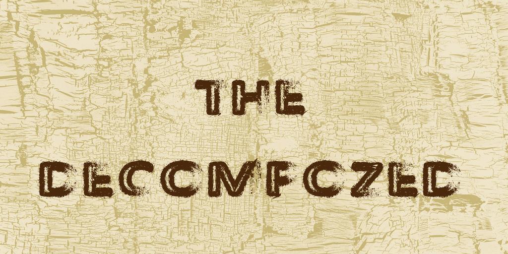 The Decompozed Font 腐爛風格字型下載