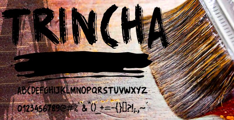 Trincha Font 油漆刷字型下載