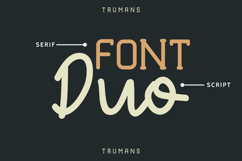 TRUMANS Font Family 圓體鋼印字型下載