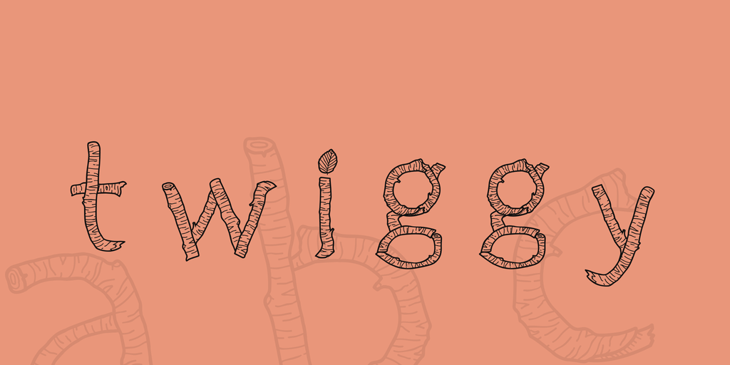 Twiggy Font 樹木字型下載
