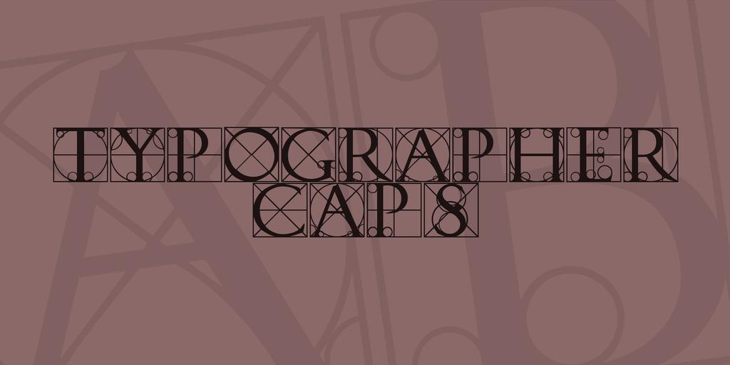 Typographer Caps Font 英文設計字型下載