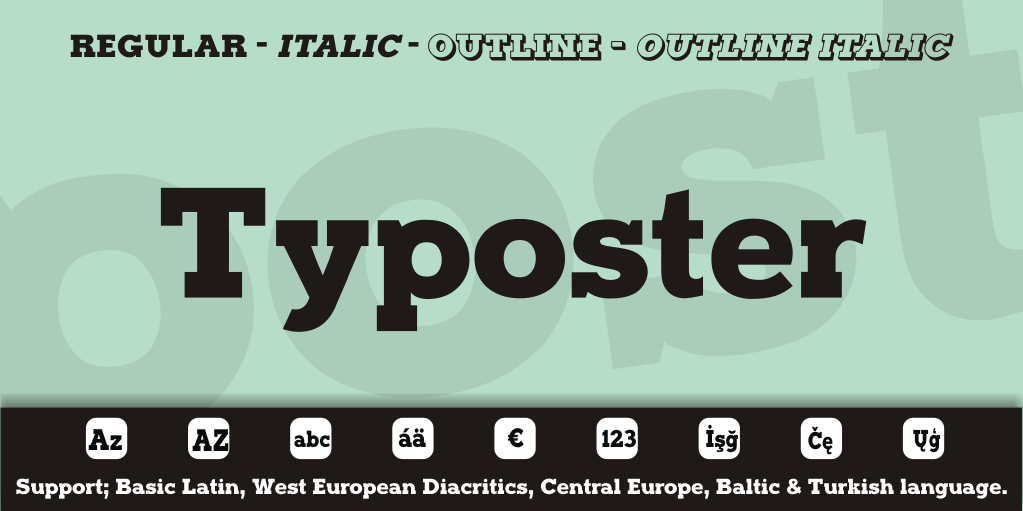 Typoster Font Family 襯線粗體字下載 字型下載
