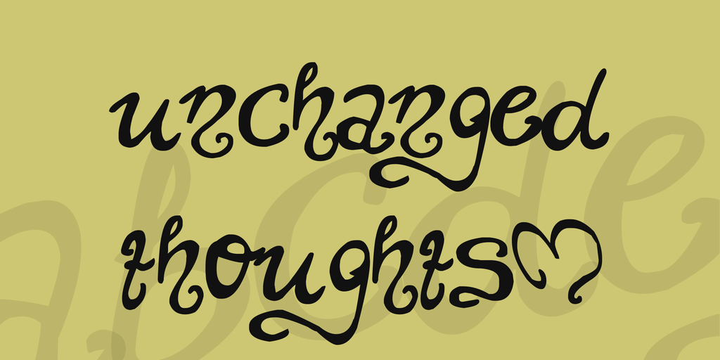 unchanged thoughts$ Font 手寫刺青字型下載