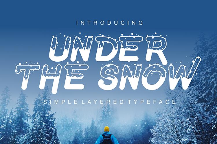 Under The Snow Font 冬季下雪字型下載