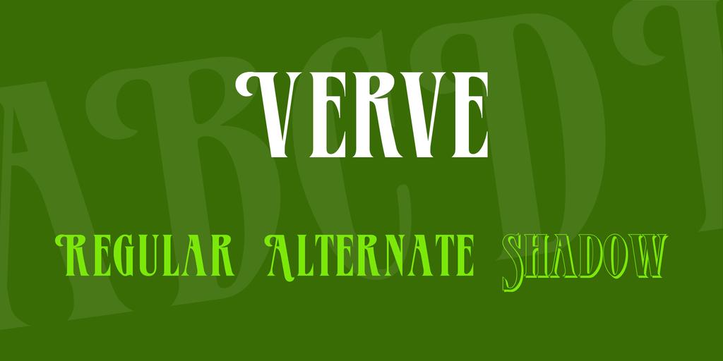 Verve Font Family 襯線英文字型下載