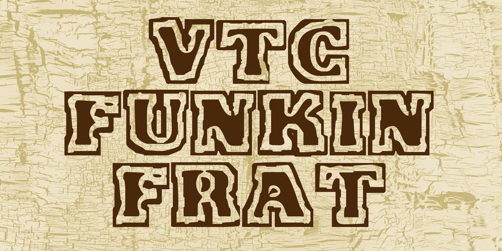 VTC Funkin Frat Font 印章標題字型下載