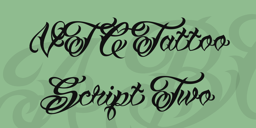 VTC Tattoo Script Two Font 刺青字型下載