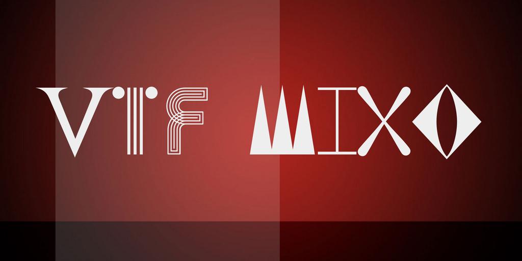 VTF Mixo Font Family 藝術造型字型下載