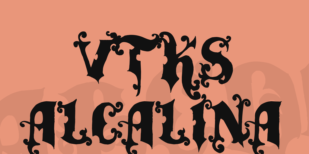 vtks alcalina Font 藝術刺青字型下載