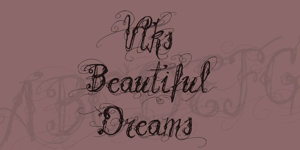 Vtks Beautiful Dreams Font 刺青手寫字型下載