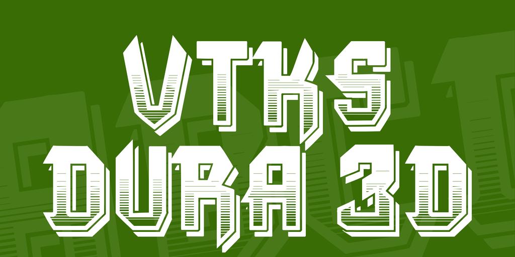 VTKS DURA 3D Font 3D 視覺字型下載