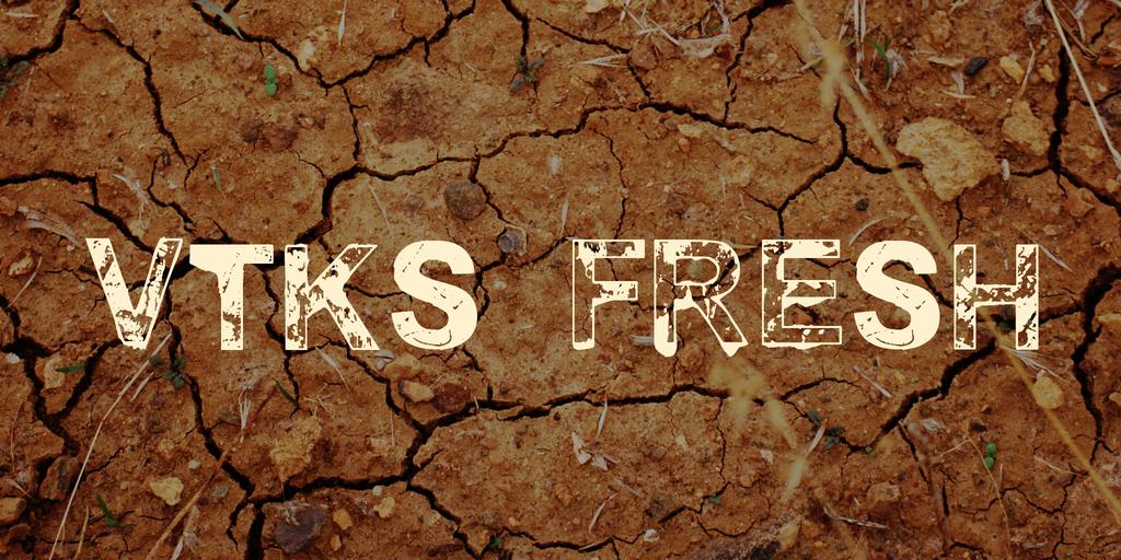vtks fresh Font 水滴質感字型下載