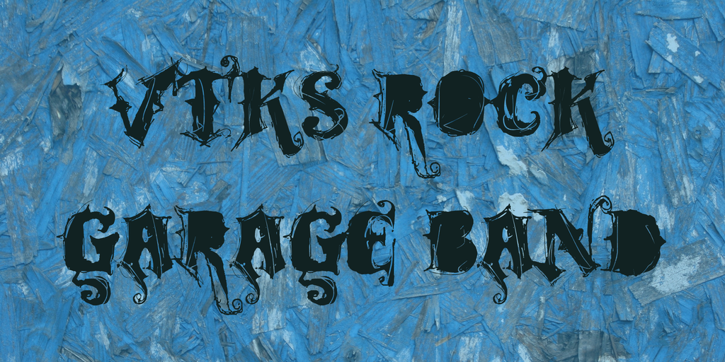 VTKS ROCK GARAGE BAND Font 龐克刺青字型下載