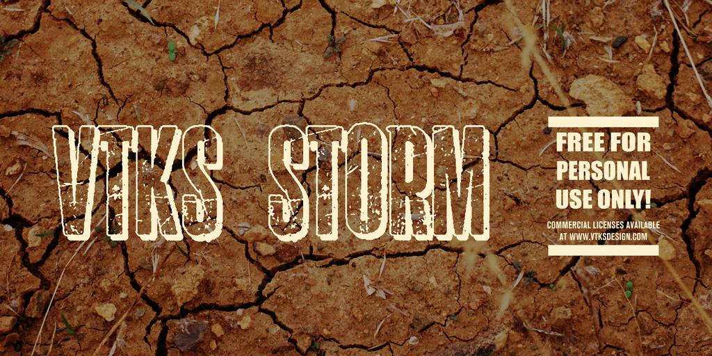 vtks storm 2 Font 石頭字型下載