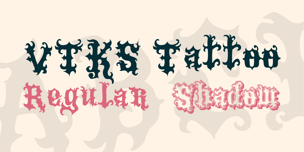 VTKS Tattoo Font Family 特殊刺青字型下載