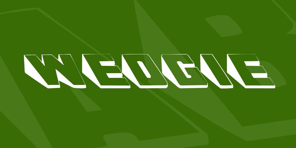 Wedgie Font 3D斜角字型下載