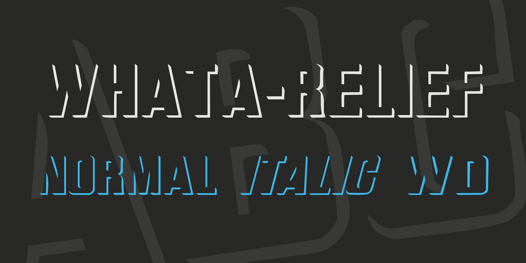 WhatA-Relief Font Family 3D陰影字型下載