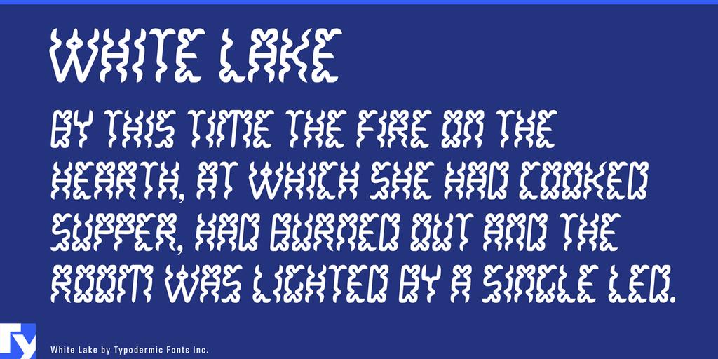 White Lake Font 麵條字型下載