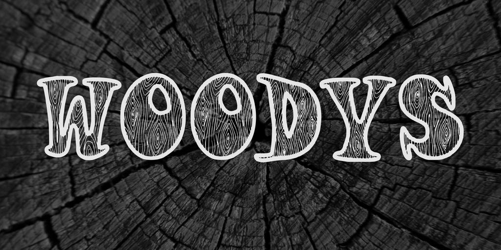 Woodys Font 木紋字型下載