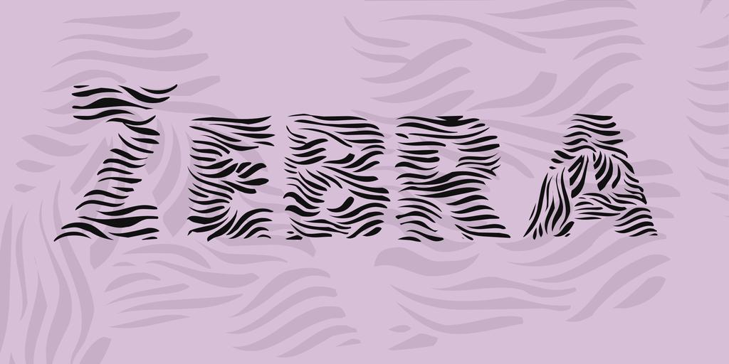 Zebra Font 斑馬字型下載