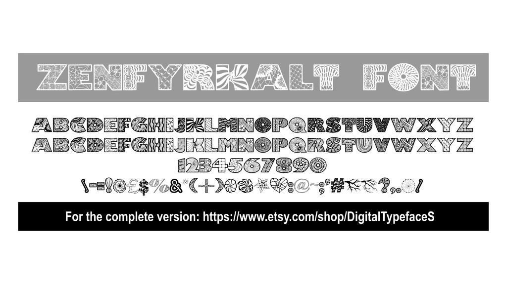 Zenfyrkalt Font 手工藝字型下載