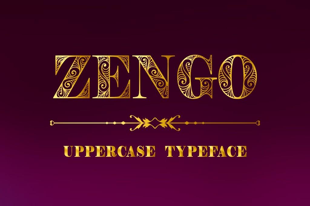 Zengo Font 標題裝飾字型下載