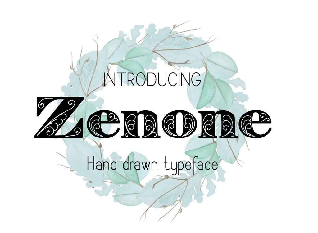 Zenone Font 封面花字型下載