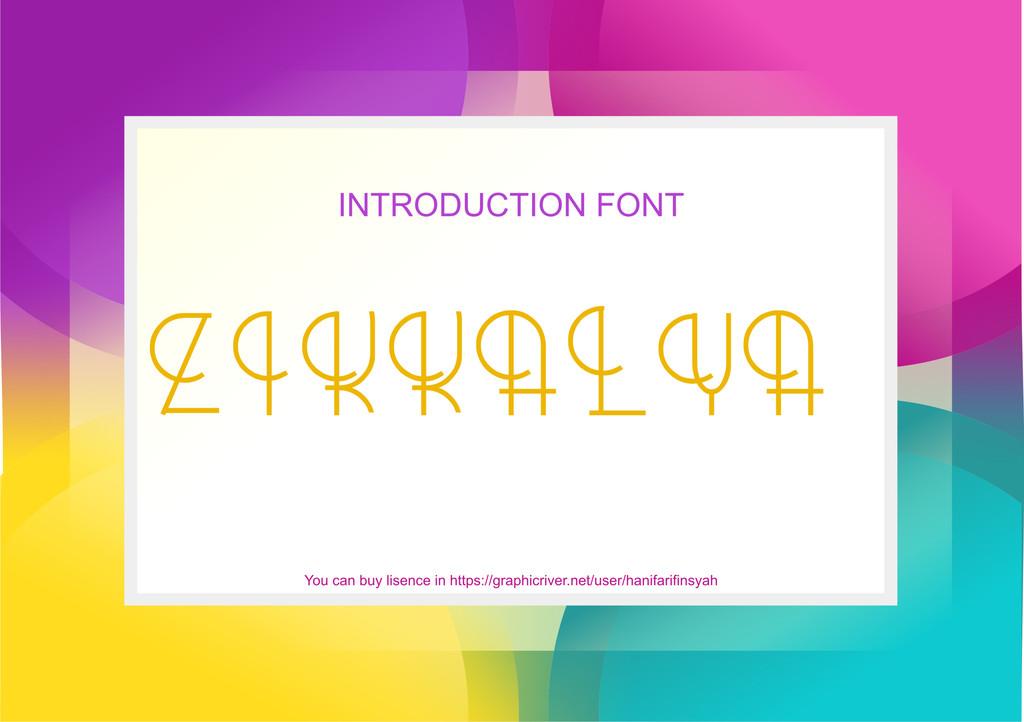 zikkalya Font 藝術設計字型下載