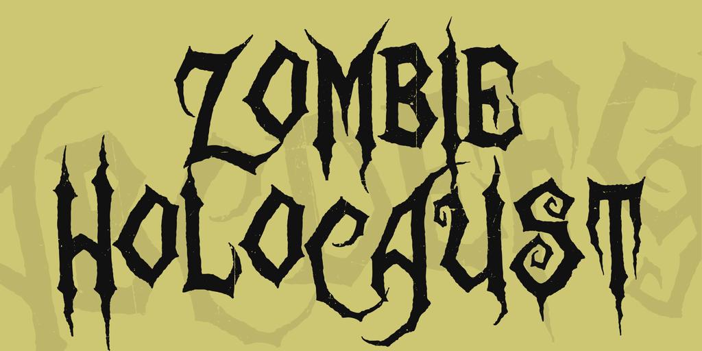 Zombie Holocaust Font 萬聖節亡靈字型下載
