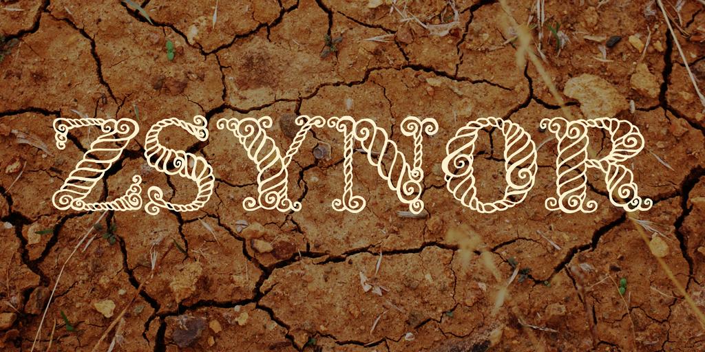 Zsynor Font 裝飾繩索字型下載