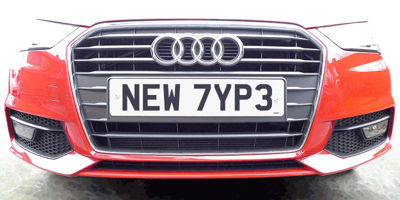 復古車牌 字體下載